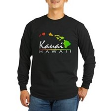 Kauai Hawaii (Distressed Design) Long Sleeve T-Shi