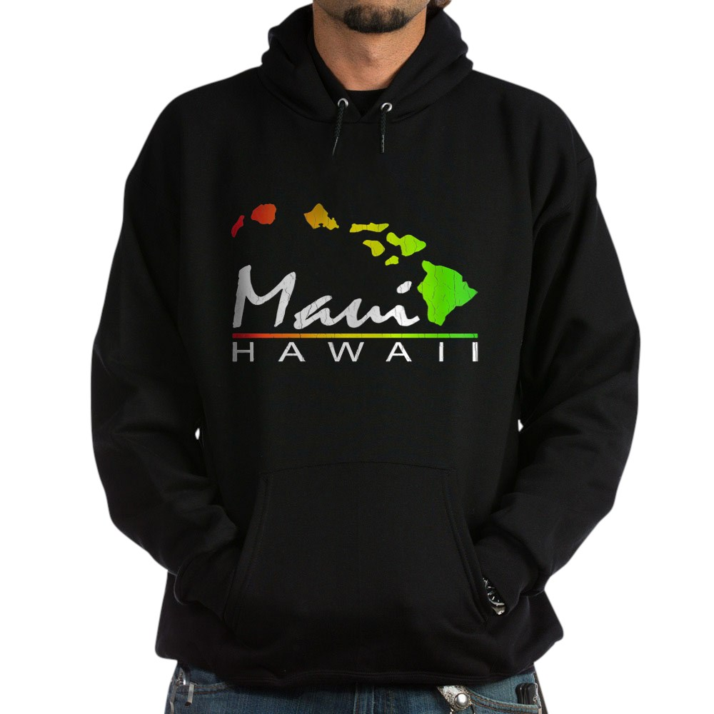 CafePress Hoodie Distressed Design Pullover Hoodie MAUI Hawaii