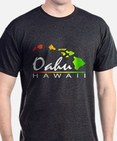 OAHU Hawaii (Distressed Design) T-Shirt