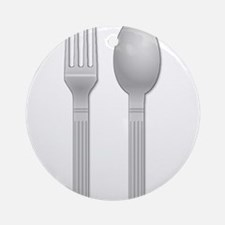 Fork and Spoon Ornament (Round)