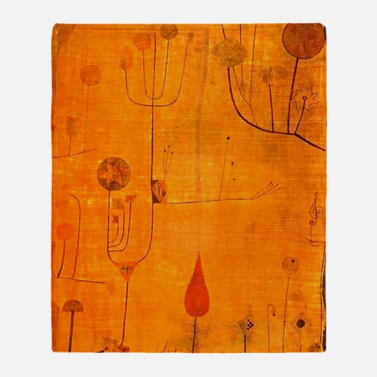 Fruits on Red, Paul Klee painting Throw Blanket