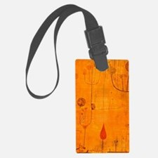 Fruits on Red, Paul Klee paintin Luggage Tag