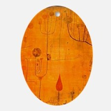 Fruits on Red, Paul Klee painting Oval Ornament