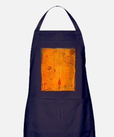 Fruits on Red, Paul Klee painting Apron (dark)