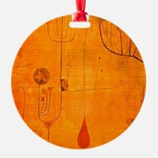 Fruits on Red, Paul Klee painting Ornament