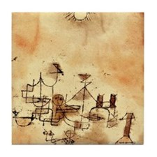 North Africa - Paul Klee painting Tile Coaster