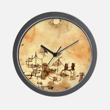 North Africa - Paul Klee painting Wall Clock