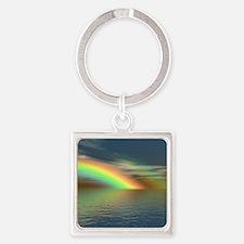Rainbow 005 Square Keychain
