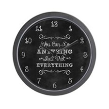 You Can Do Anything Wall Clock