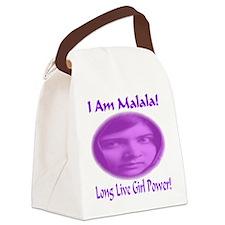 I Am Malala Long Live Girl Power Canvas Lunch Bag