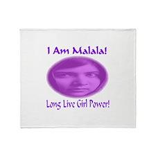 I Am Malala Long Live Girl Power Throw Blanket