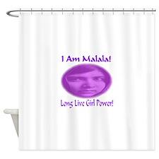 I Am Malala Long Live Girl Power Shower Curtain
