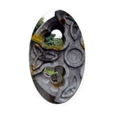 Celtic Cross, Scotland Oval Car Magnet