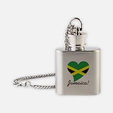 Heart Jamaica (World) Flask Necklace