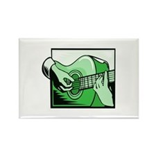 acoustic guitar hand playing green Magnets