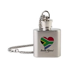 Heart South Africa (World) Flask Necklace