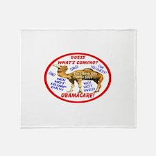 Obamacare Camel Throw Blanket