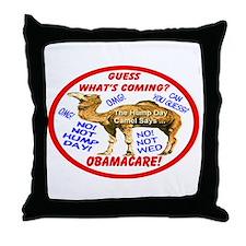 Obamacare Camel Throw Pillow
