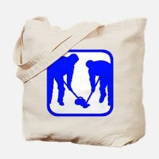 Curling Players Tote Bag