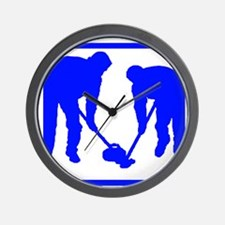 Curling Players Wall Clock