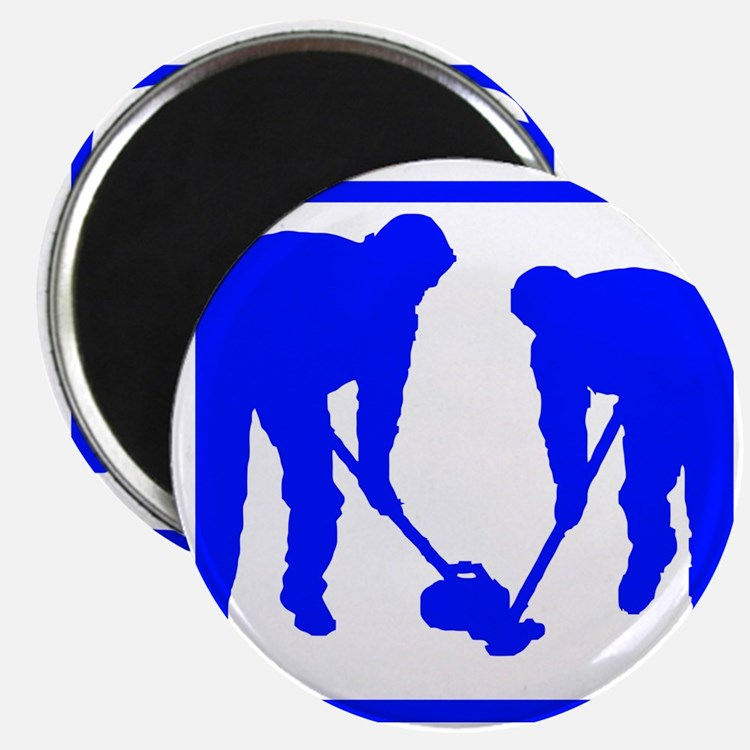 Curling Players Magnet