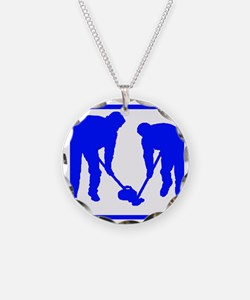 Curling Players Necklace