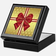 Gold Effect Holiday Package Keepsake Box