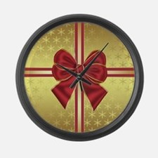 Gold Effect Holiday Package Large Wall Clock