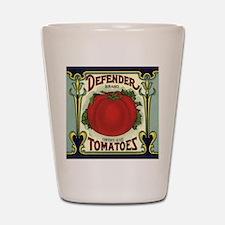 Vintage Fruit Crate Label Shot Glass
