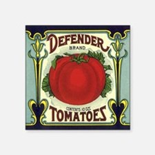 "Vintage Fruit Crate Label Square Sticker 3"" x 3"""