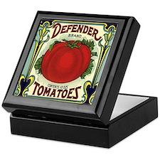 Vintage Fruit Crate Label Keepsake Box