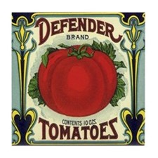Vintage Fruit Crate Label Tile Coaster