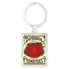 Vintage Fruit Crate Label Portrait Keychain