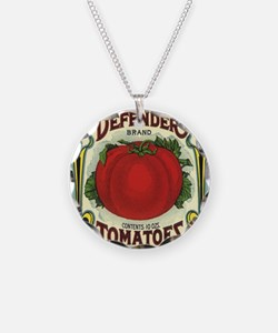 Vintage Fruit Crate Label Necklace