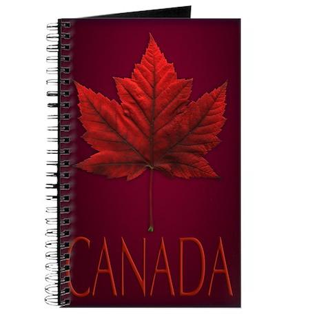 Canada Maple Leaf Souvenir Journal Notebook