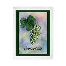 Chardonnay Wine Grapes Twin Duvet