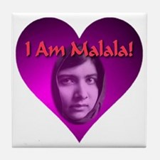 I Am Malala Heart Best Seller Tile Coaster