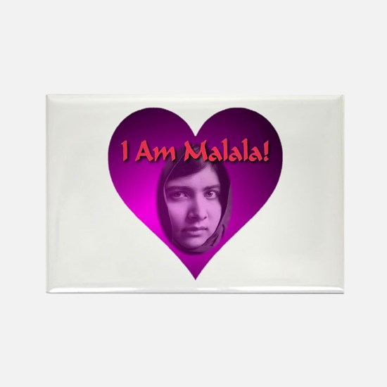 I Am Malala Heart Best Seller Rectangle Magnet