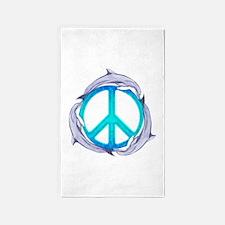 Dolphin Peace 3'x5' Area Rug