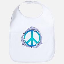 Dolphin Peace Bib