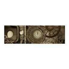 Steampunk, clocks and gears, mechanical design Wal