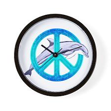 Dolphin Peace Wall Clock