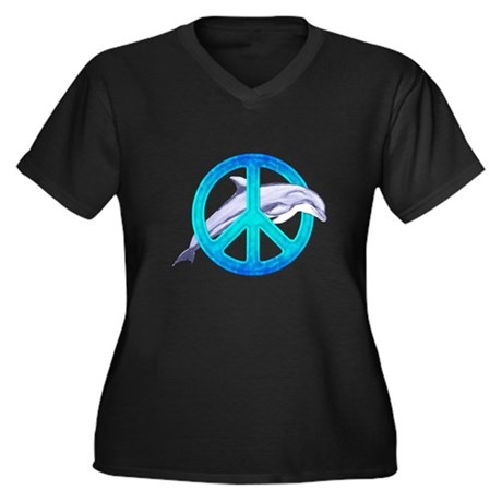 Dolphin Peace Plus Size T-Shirt