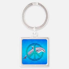 Dolphin Peace Keychains