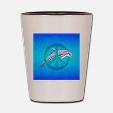 Dolphin Peace Shot Glass