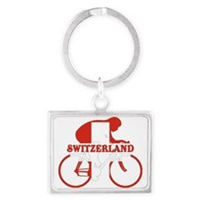 Swiss Cycling Landscape Keychain