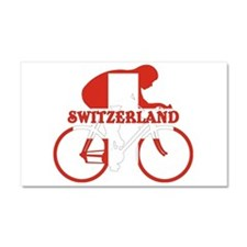 Swiss Cycling Car Magnet 20 x 12