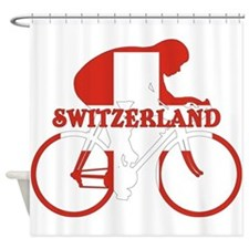 Swiss Cycling Shower Curtain
