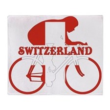 Swiss Cycling Throw Blanket