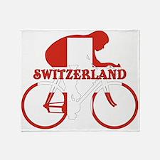 Swiss Cycling Throw Blanket